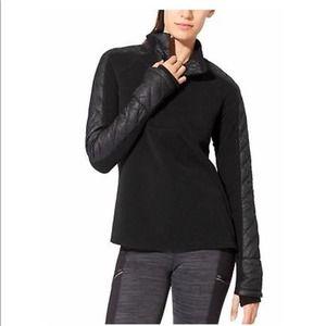 Athleta Black Vortex Half Zip Fleece Sweater XL